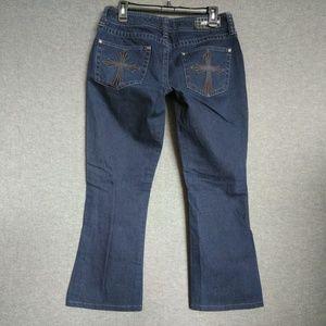 Affliction JADE Boot Jeans Dark wash Short Inseam